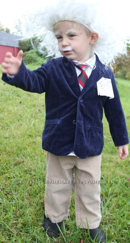 Cool Homemade Albert Einstein Toddler Costume - 2