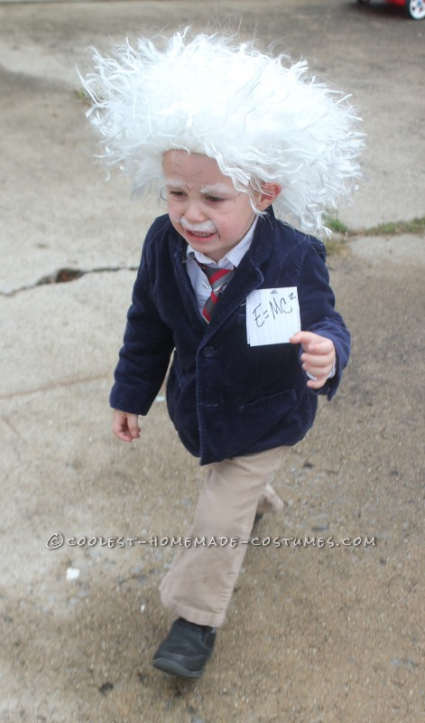 Cool Homemade Albert Einstein Toddler Costume - 4