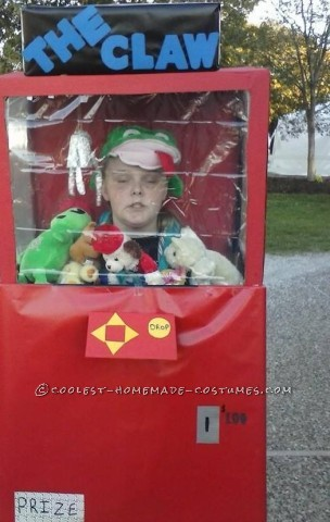 Coolest Claw Machine DIY Halloween Costume