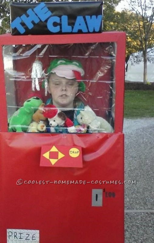 Coolest Claw Machine DIY Halloween Costume
