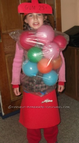 Coolest DIY Bubble Gum Machine Costume