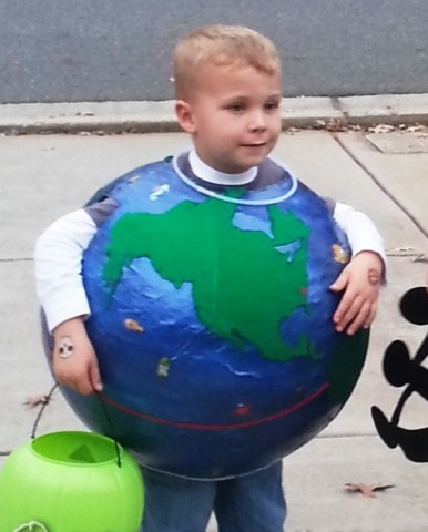 Coolest Paper Mache Earth Costume