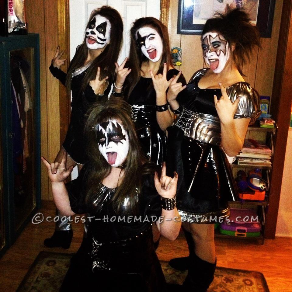Sexy KISS Girls Group Costume