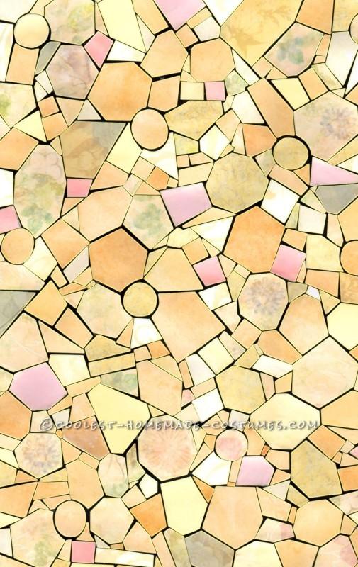 Paper Mosaic Shirt Fabric Pattern