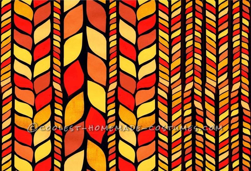 Paper mosaic hair pattern.