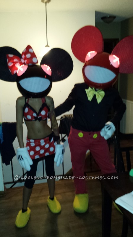 Coolest Home Made Mickey and Minnie Deadmau5 Costume (MickeyMau5) - 2