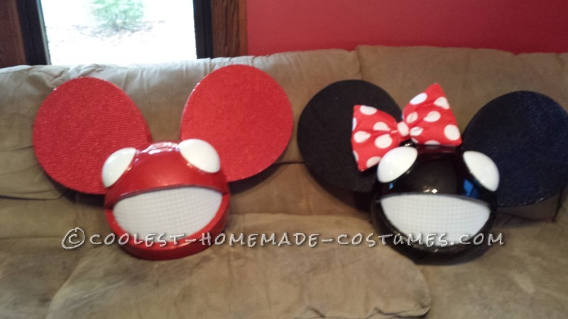 Coolest Home Made Mickey and Minnie Deadmau5 Costume (MickeyMau5) - 7