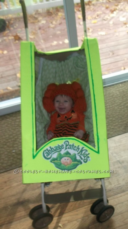 Coolest Homemade Baby in a Stroller Cabbage Costume - 1