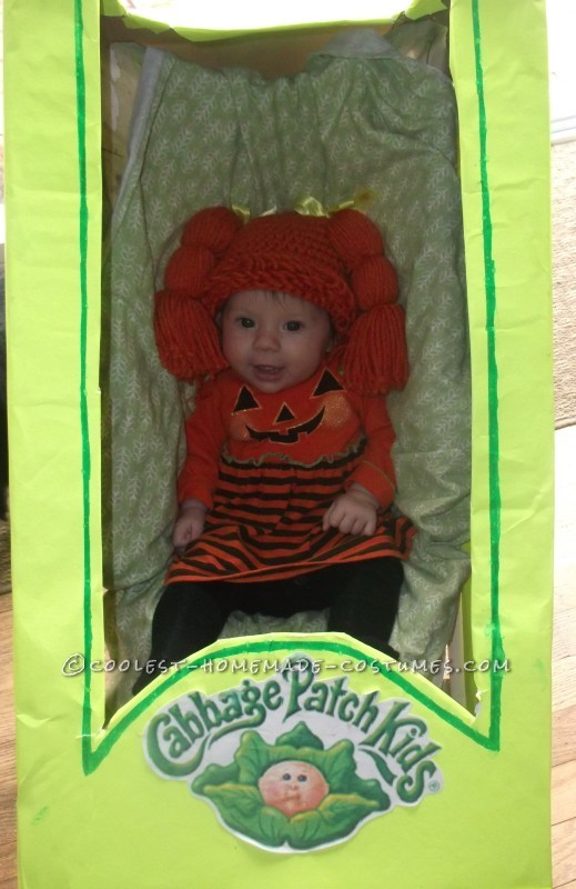 Coolest Homemade Baby in a Stroller Cabbage Costume