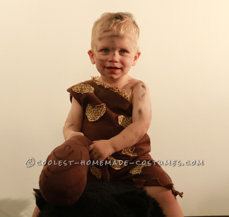 Coolest Homemade Cave Man Costume for a Toddler