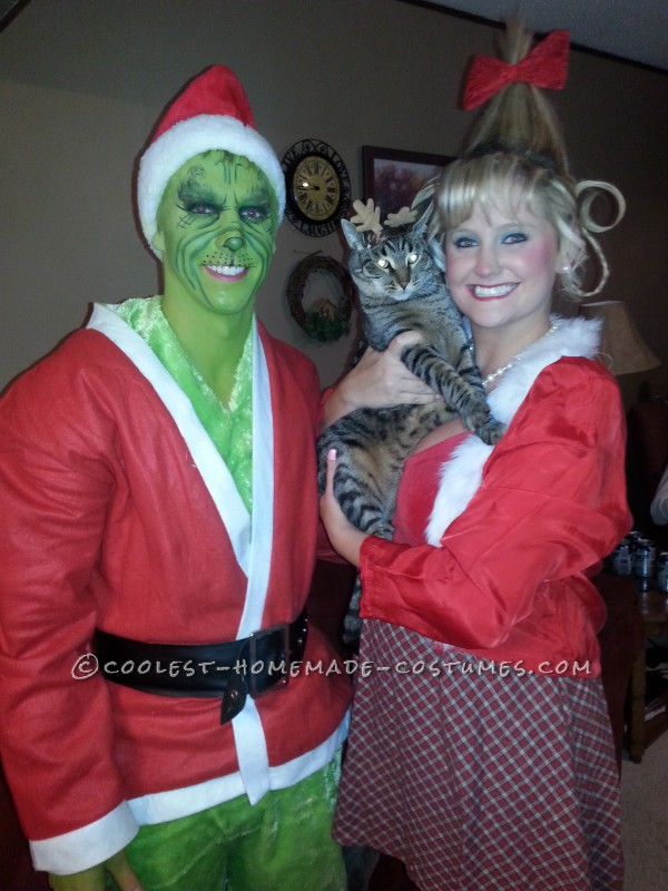 cool couples halloween costume grinch and cindy lou who