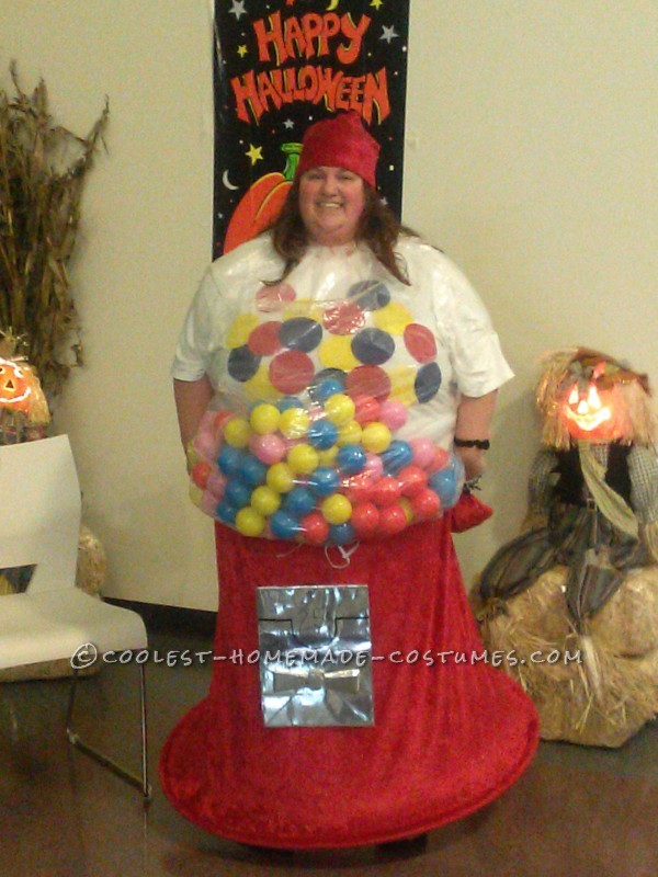Coolest Homemade Gumball Machine Costume