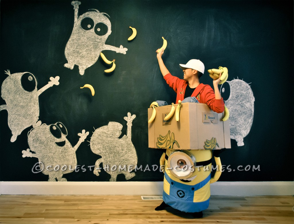 Coolest Homemade Minion Carrying a Box Illusion Costume