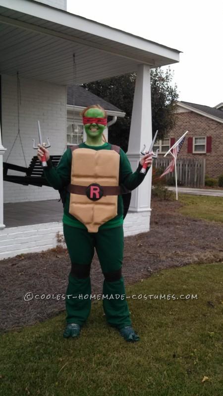 Cool Raphael Ninja Turtle Costume