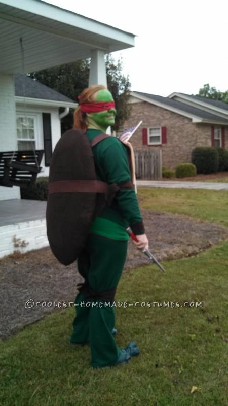 Cool Raphael Ninja Turtle Costume - 1