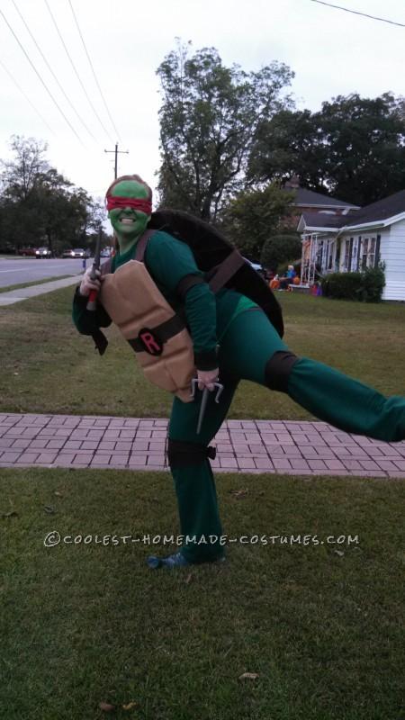 Cool Raphael Ninja Turtle Costume - 4