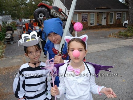 Coolest Moogle, Dry Bones and Link Group Halloween Costume