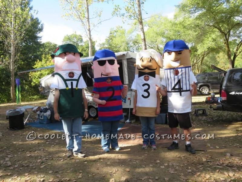 Bratwurst, Polish, Italian, and Hot Dog ready for a race.