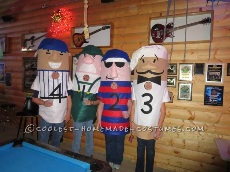 Coolest Milwaukee Brewer Racing Sausages Group Costume - 1