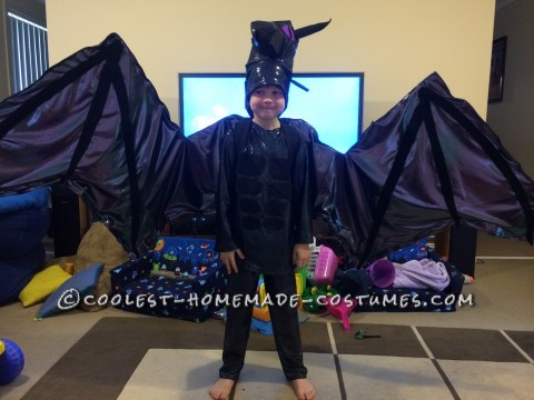 Coolest Minecraft Ender Dragon Costume with Articulated Wings