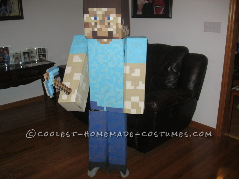 Cool Homemade Minecraft Steve Costume