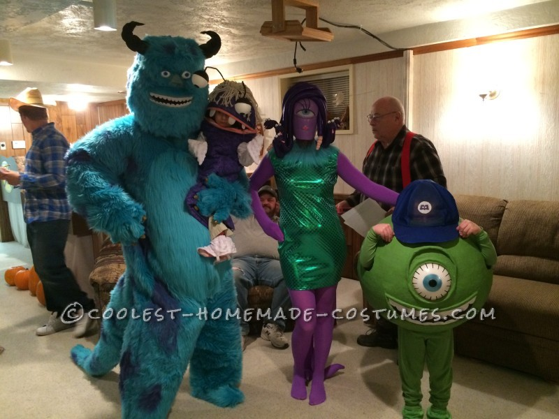 Coolest Monsters Inc Family Halloween Costumes