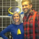Coolest Paul Bunyan and Babe the Blue Ox Halloween Couple Costume