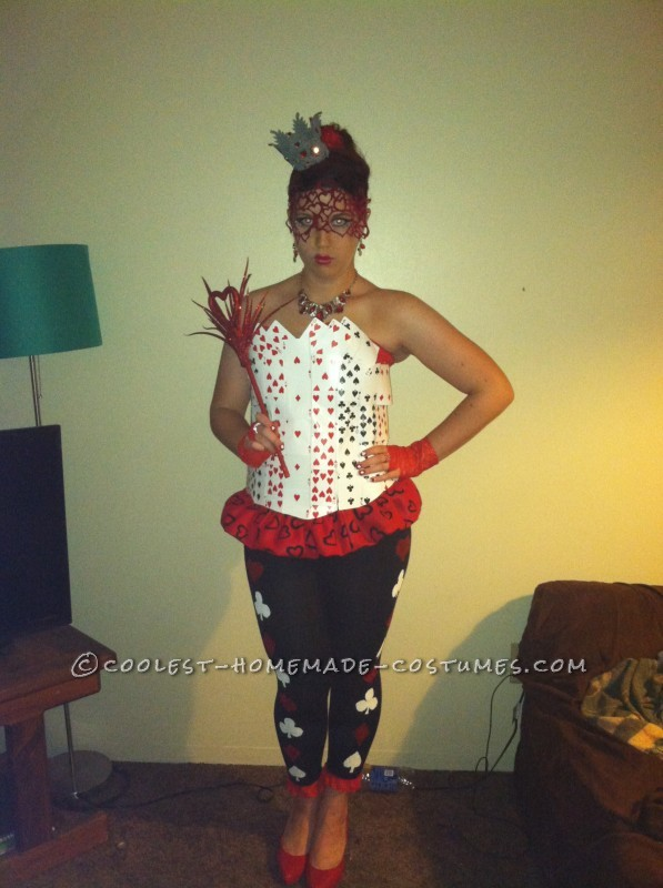 Sexy Homemade Queen of Hearts Costume