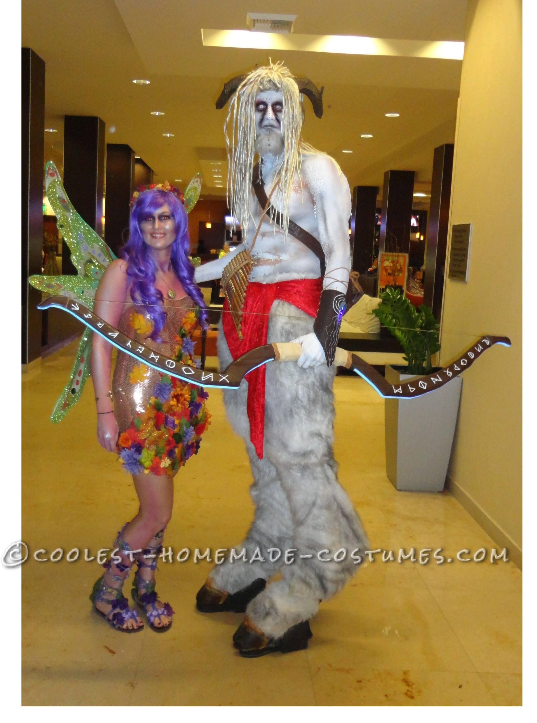 Coolest Homemade Satyr (Goatman and Nymph) Costumes