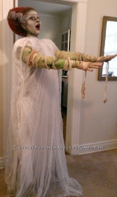 Coolest Technicolor Bride Of Frankenstein Costume