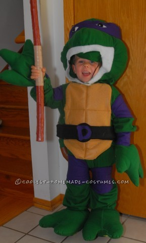 Coolest Throwback Teenage Mutant Ninja Turtle Costume for Boy
