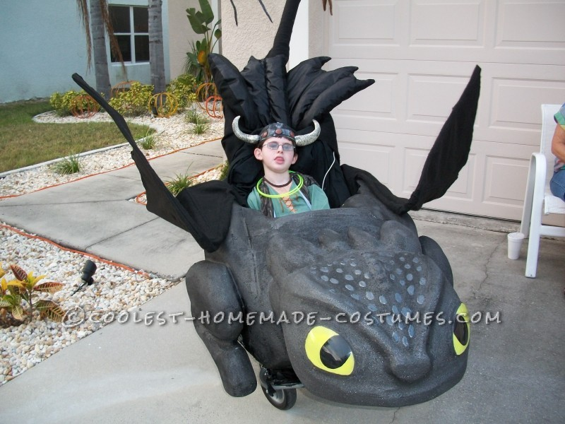 Awesome Toothless and Hiccup Wheelchair Costume - 2