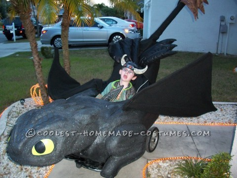 Awesome Toothless and Hiccup Wheelchair Costume