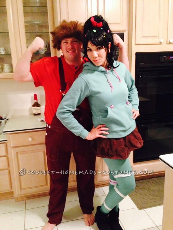 Coolest Wreck-It Ralph and Vanellope von Schweetz Couple Halloween Costume
