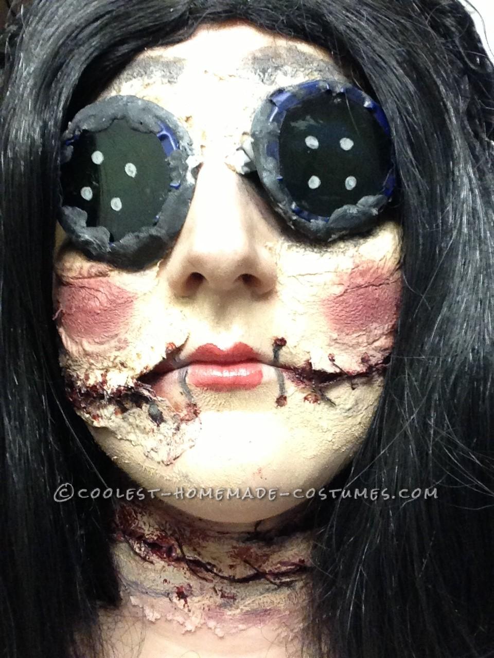 Coraline-Inspired Creepy Doll Costume