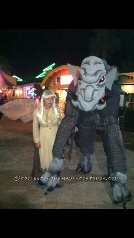 Larger-than-Life Grey Ghouly Stilted Gargoyle Costume - 1
