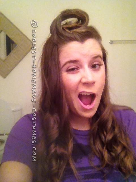 """The """"Wanda curl"""" before hair paint"""