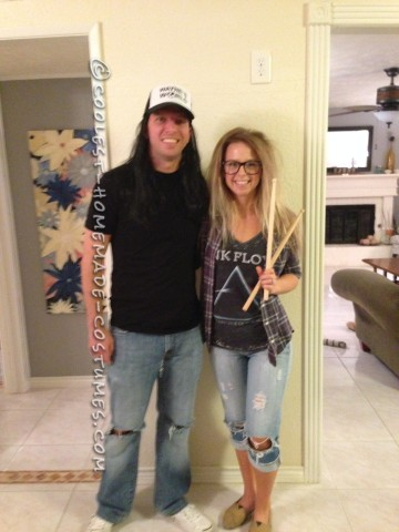 Cool Homemade Couples Wayne's World Costume