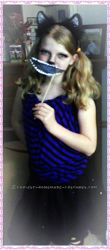 Our daughter as Cheshire Cat- with smile