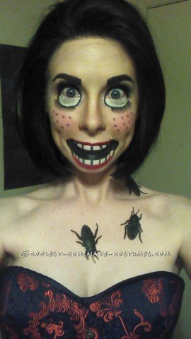 Creepy Doll Makeup - Awesome Homemade Costume That Costs Next to Nothing!