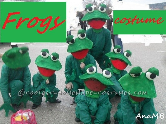 Croaking Frogs Family Halloween Costume
