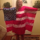 Cute and Modest American Flag Costume for Girls