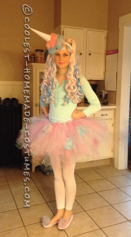 The whole cotton candy costume