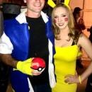 Cute Ash and Pikachu Couple Costume