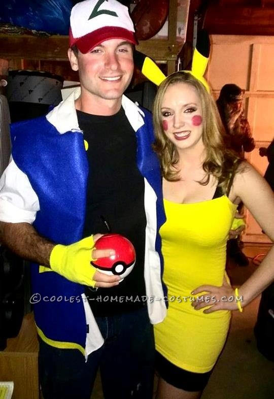 Cute Ash and Pikachu Couple Costume
