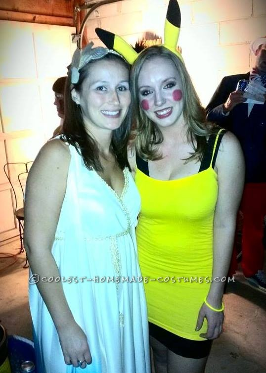 Cute Ash and Pikachu Couple Costume - 2