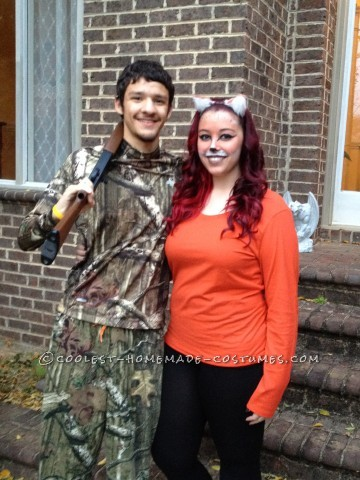 Cute Fox and Hunter Couple Costume