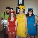 Cute Homemade Sesame Street Crew Group Costume