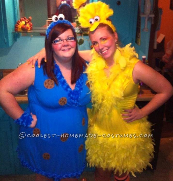 Cute Homemade Sesame Street Crew Group Costume - 3