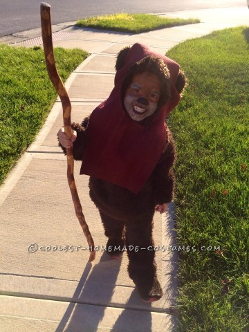 Cutest Handmade Ewok Costume for a Toddler